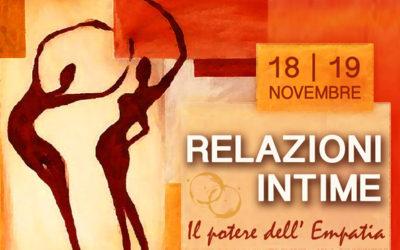 Workshop – RELAZIONI INTIME: il potere dell'empatia – 18/19 novembre – Genova